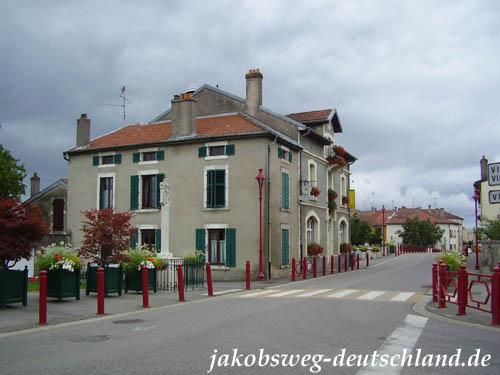 Die Rue Nivoy in Pagny-sur-Moselle